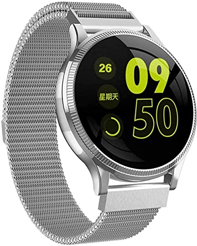 Smart Watch 1 22 'Pantalla a color IP67 Impermeable Deportes Fitness Tracker Mensaje Push Notification (Color: Oro) (Plata)
