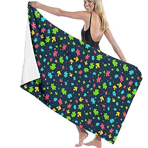 dingjiakemao bad vel puzzel stukken patroon bad handdoeken extra absorberend 80x130Cm strand deken snel droog handdoek voor reizen zwemmen zwembad