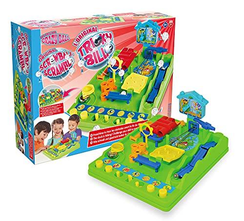 TOMY - Tricky Bille Circuit de Billes T7070, Jeu d'Action pour Enfant, Jeu d'adresse et de Rapidité, Jeu de Billes Multicolore pour Enfant de 5 ans+