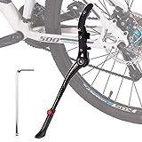 "Totonia Adult Bike Kickstand for 24-29"" inch Mountain Bike 700C Road Bike Aluminium Alloy Adjustable Rear Mount Double Fulcrum Bicycle Kickstand"