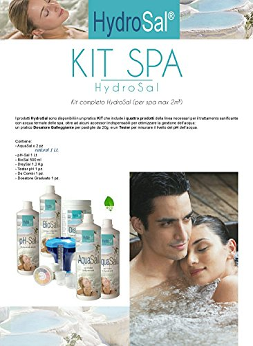 HYDROSAL Juego de productos para spa de hidromasaje y piscina a base de agua termal y sin...