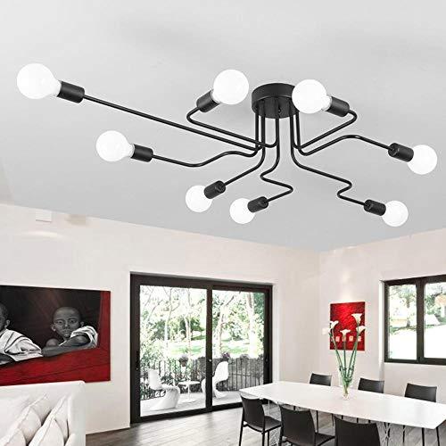 Lámpara de techo de personalidad creativa de estudio LED, salón moderno simple, dormitorio, sala de estar, lámpara de codo, iluminación del hogar-8 cabezas_blanco