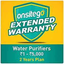 Onsitego 2 Years Extended Warranty for Water Purifiers (Rs. 0 to 5,000) (Email Delivery - No Physical Kit),OnsiteGo,Extended Warrranty