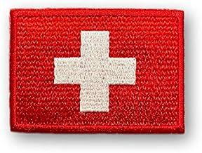 スイス 国旗 アイロン ワッペン (S 約65mmx45mm)