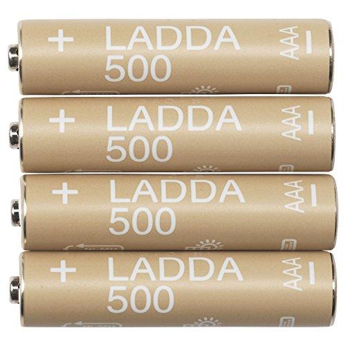 Ikea LADDA Akkus aufladbar; 500; HR03 AAA 1.2V; 4 Stück