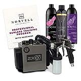 Norvell Sunless Kit - Z3000 Professional Mobile HVLP Spray Tan Airbrush Machine System + 8 oz...