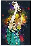 YRICHPG Kits de Pintura de Diamantes 5D, Taladro Completo Iker Casillas, imágenes de Dibujo de Diamantes DIY, Puntada artística, Regalo, Pegatina de Pared Hecha a Mano