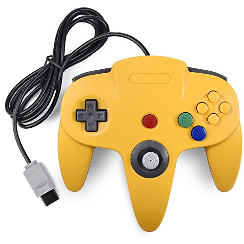 Classic N64 Controller, miadore Rerto N64 Gaming Remote Gamepad Joystick for N64 Console Video Game System ( Yellow and Blue)