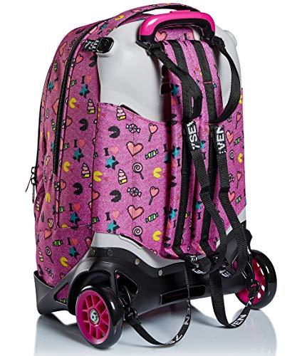 51EArYfWHvL - Trolley Backpack Seven Jack 2WD Starry Rainbow