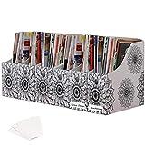 Evelots Magazine File Holder/Organizer-4 Inch Wide-Mandala-With Labels-Set/6