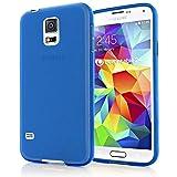 NALIA Handyhülle kompatibel mit Samsung Galaxy S5 Mini, Hülle Ultra-Slim Silikon Case, Dünne Crystal Schutzhülle Etui Handy-Tasche Telefon-Schale Back-Cover Bumper, TPU Smart-Phone Gummi-Hülle - Blau