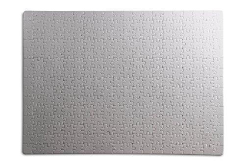 Kopierladen Karnath GmbH Puzzle Blanko individuell gestalten und bemalen, Leeres Puzzle mit glänzender Oberfläche, mit 252 Teilen, ca. 383 x 262 mm, Premium Qualität