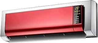 Radiador eléctrico MAHZONG Calentador eléctrico de Control Remoto de Pared LCD Display LCD PTC Ceramic Heating 2000W Red