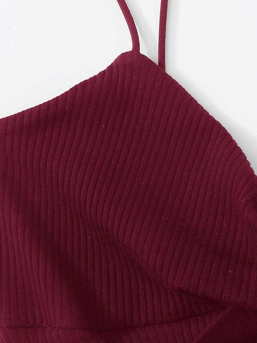 Costate Twist-Front Cami Bodysuit, Women Bodysuits