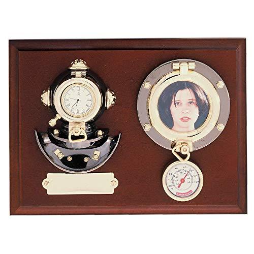 Metopa 22x17x6cm escafandra, reloj, portafotos y termómetro