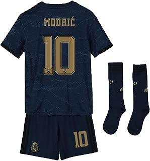 Saint George Real Madrid 2019-2020 New Season #10 Modric Away Kids/Youths Soccer Jersey & Shorts & Socks Blue (6-13years)