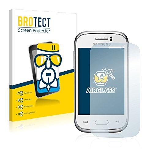 BROTECT Protector Pantalla Cristal Compatible con Samsung Galaxy Young S6310 Protector Pantalla Vidrio Dureza 9H AirGlass