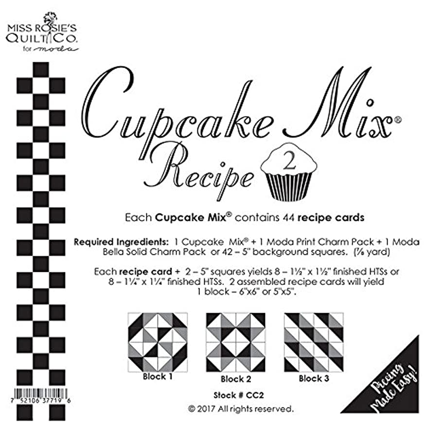 Moda Cupcake Mix Recipe Foundation Paper Pattern Pad #2