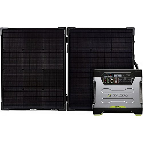 Goal Zero Yeti 1250 Solar Generator Kit with Boulder 100 Briefcase Solar Panel