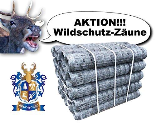 Preisvergleich Produktbild 50m BEST4FORST Wildzaun Forstzaun Weidezaun Drahtzaun Knotengeflecht 150 / 12 / 15