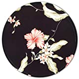 Mouse Pad for Women and Girls, Small Flowers Mouse Pad, Round Custom Mousepad with Design, Pretty Mouse Mat for Office Gaming Computer Laptop, Stitched Edges, Enhanced Thickness, 7.8 x 7.8 Inch