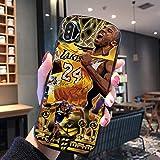 NBNB Kobe Bryant Case for iPhone 12 / 12mini / 12pro / 12promax per Basketball Fans, Ultrasottile Vetro temperato di Protezione Sottile di Caso Compatibile con iPhone 12 M- 12ProMax