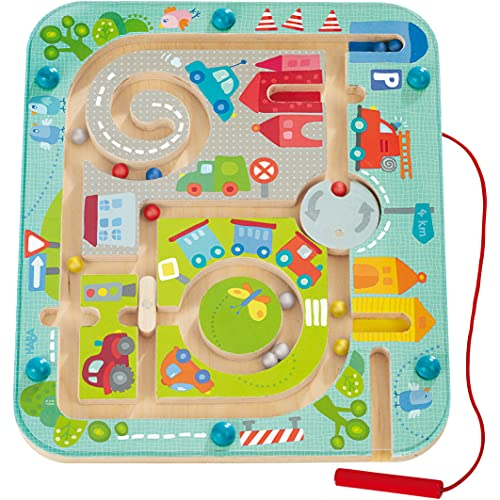 HABA Town Maze Magnetic Puzzle Game - Learning & Education Toys for Preschoolers