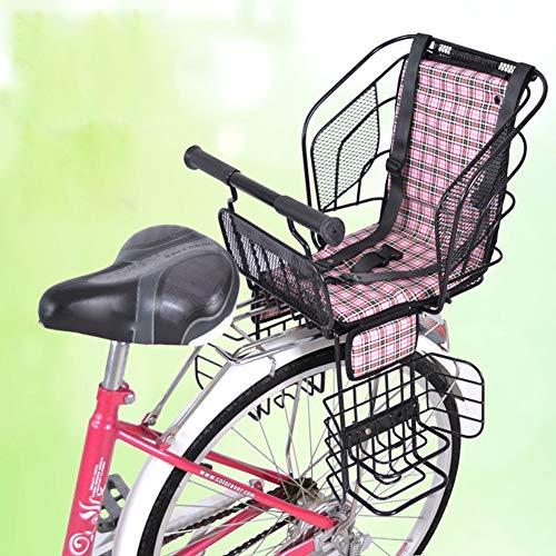 Fahrradkindersitz hinten mit sicherem Gurt Dickes haltbares für 2-7 Jahre altes Baby,Black,021