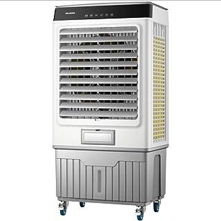 Móvil Climatizador Evaporativo Portátil Refrigerador de aire evaporativo, Mobile Mini aire acondicionado, ventilador de refrigeración de agua industrial, 3 velocidades con control remoto de silencio f