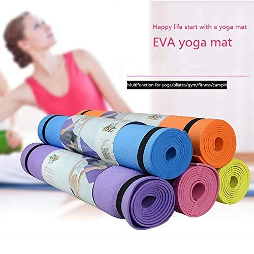 BLG Azul Cielo Federación Rusa 4MM Colchoneta de Yoga EVA Fitness Antideslizante Slim Yoga Gym Colchonetas de Ejercicios Medio Ambiente sin Sabor Pilates Gym Gym Almohadillas de Ejercicio