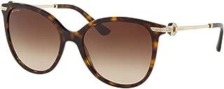 Bvlgari Women's BV8201BF Sunglasses Dark Havana/Brown Gradient 55mm