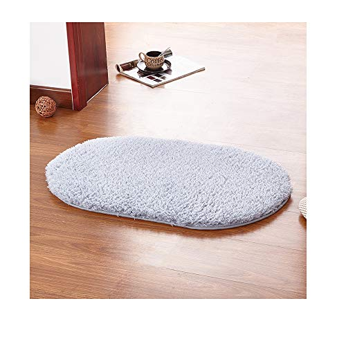 AZUOYI Bathroom Rugs- Bath Mats Non Slip Thick Soft Best Absorbent Perfect Absorbant Plush Machine Washable Dry Carpet Gentsing Shower Large Shaggy Floors,Gray,4060cm