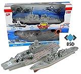 BSD Porte-Avions et Le modèle de cuirassé avec Le Son et la lumière - Porte-Avions avec Avions Militaires, des hélicoptères