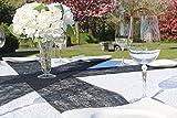 AmaCasa Vlies Tischband 23cm/20m Rolle Tischläufer Flower Vlies Hochzeit Kommunion (Schwarz, Vlies) - 5