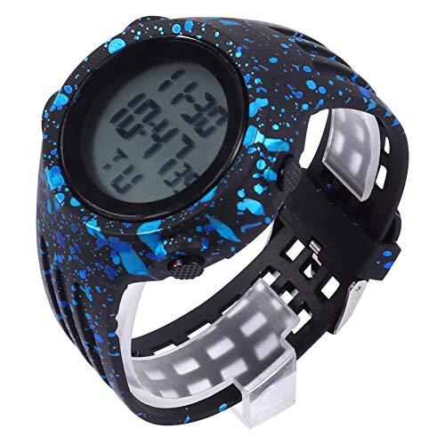 VILLCASE Relógio Digital Infantil Tela Led à Prova D'água Relógio Esportivo Ao Ar Livre Relógios de Pulso para Menino Meninas Crianças Azul