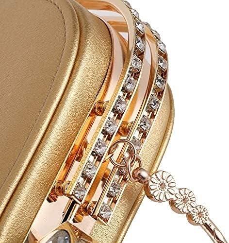 Women's Evening Handbags Fashion Diamond Casual Evening Banquet Bag (Color : Pink)