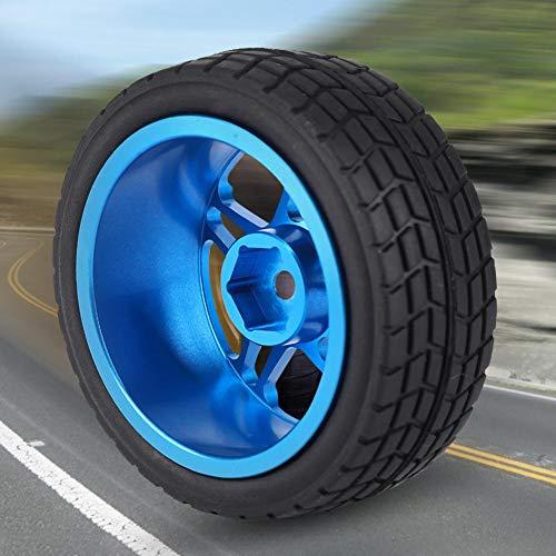 RC Autoreifen, 2 STÜCKE 1/10 RC LKW Autoreifen Rad Gummi für ZD Racing On-Road Autoteil Zubehör(Blau)