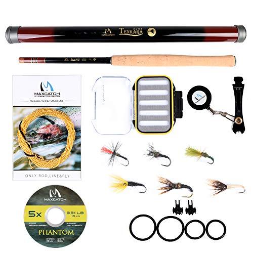 M MAXIMUMCATCH Maxcatch Tenkara Fishing Rod/Rod Combo 9/10/11/12/13ft (Rod Combo, 12ft)