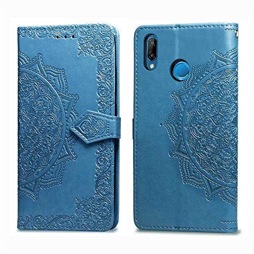 Bear Village Hülle für Huawei P Smart Plus 2018 / Nova 3I, PU Lederhülle Handyhülle für Huawei P Smart Plus 2018 / Nova 3I, Brieftasche Kratzfestes Magnet Handytasche mit Kartenfach, Blau
