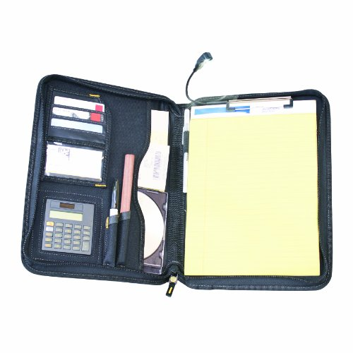 DEWALT DG5142 Pro Contractor's Business Portfolio with Flex-Light, Built-In Calculator, Full Zipper Enclosure