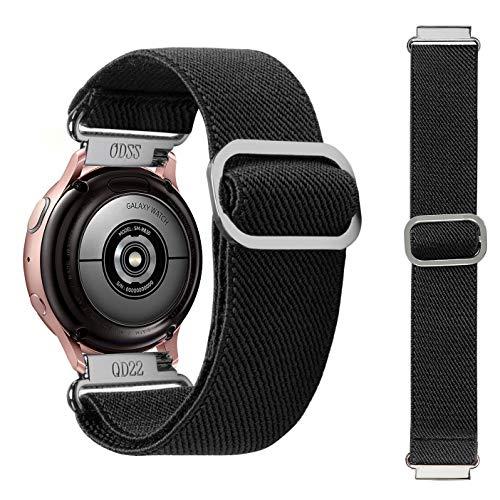 Syxinn Compatibile con 20mm Cinturino Galaxy Watch Active/Active 2 40mm 44mm/Galaxy Watch 3 41mm/Galaxy Watch 42mm Elastico Scrunchie Braccialetto Cinturini per Gear Sport/S2 Classic/Huawei Watch 2