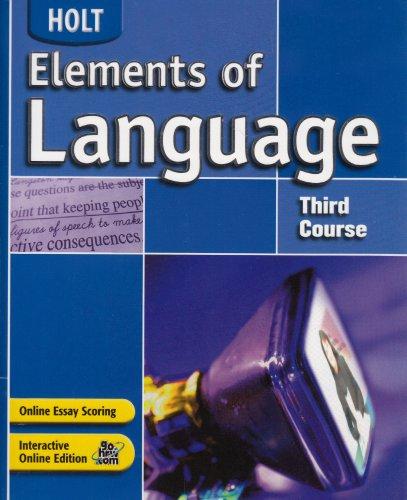 Elements of Language: Student Edition Grade 9 2004