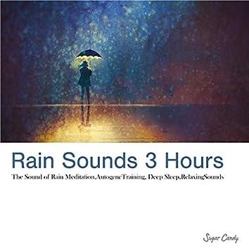 睡眠と勉強のための、リラックスできる雨の音 ~3時間~