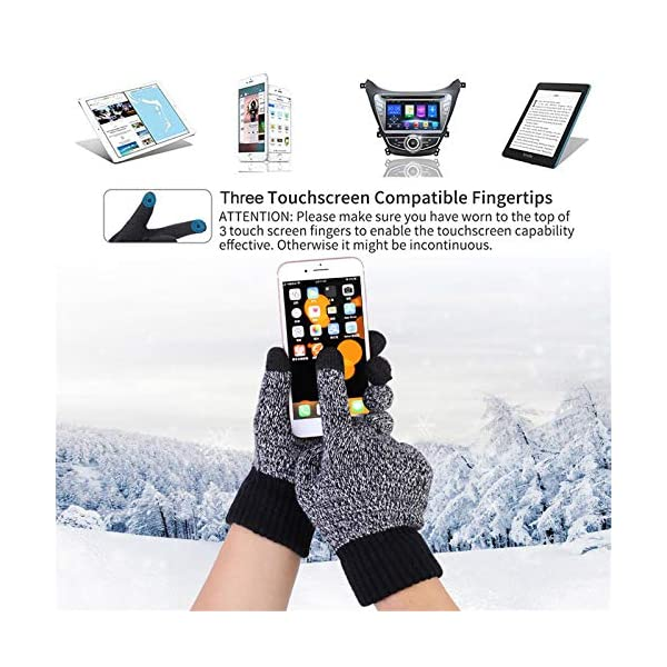 Men's Winter Beanie Hat Neck Warmer Scarf and Touchscreen Gloves Set 3 PCS Knitted Cap Set for Men & Women By Honnesserry