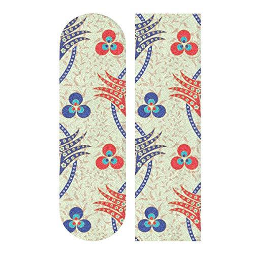 N\A 33,1 x 9,1 Zoll Sport Outdoor Skateboards Grip Tape Particlar Großer bunter Palace Print Wasserdichtes Skateboard Sandpapier für Tanzbrett Double Rocker Board Deck 1 Blatt