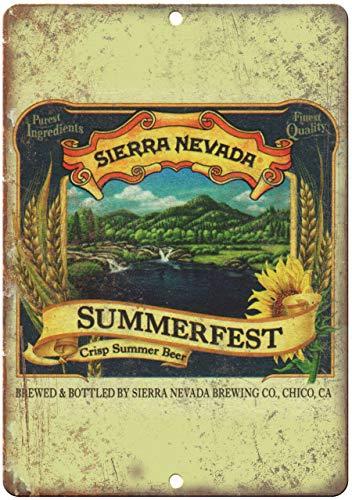 Metallschild Sierra Nevada Summerfeast Vintage Bier Blechschild 25,4 x 35,6 cm