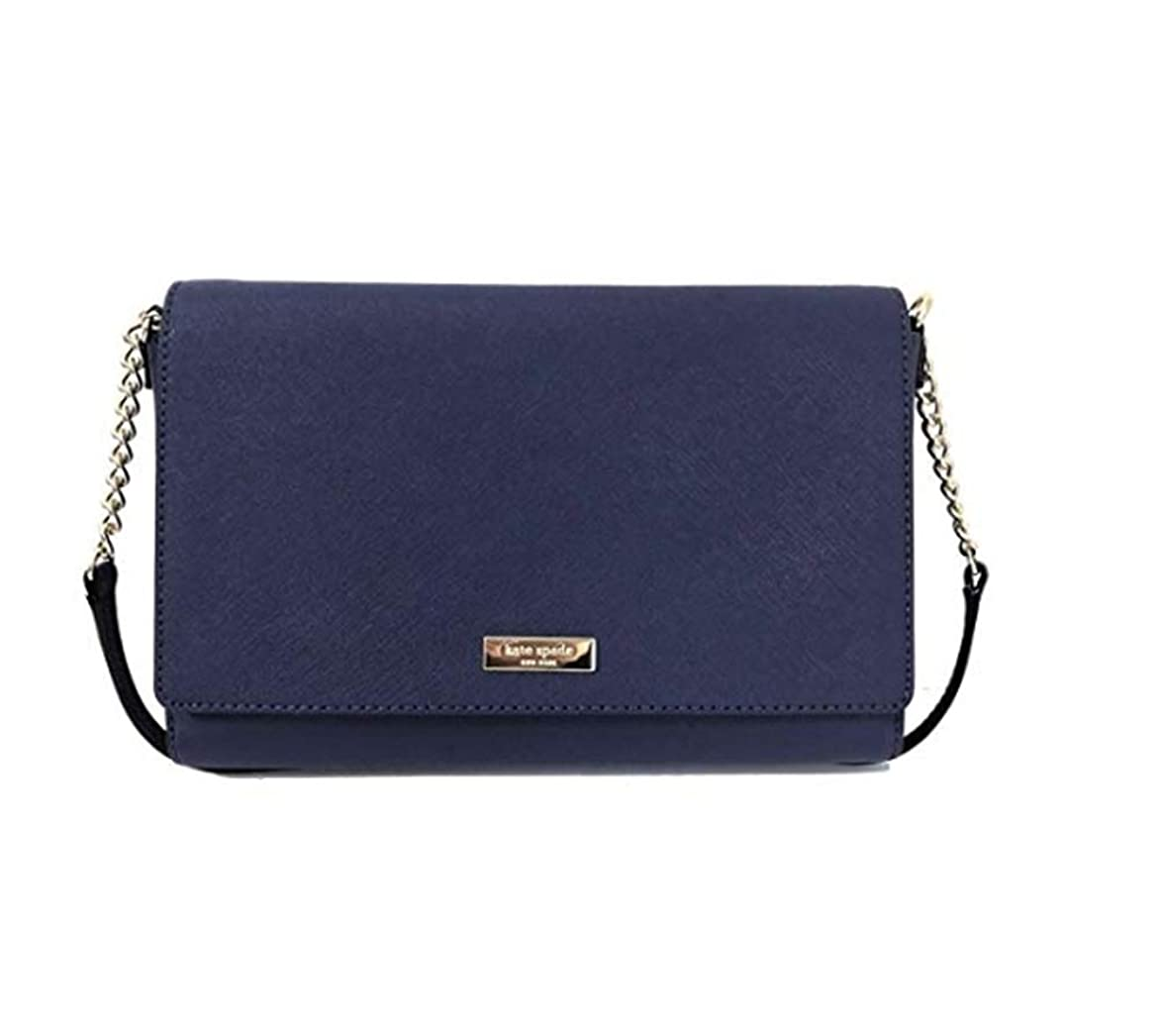 修正従来の百[(ケイト·スペード)]{Kate Spade New York Tilden Place Alek Leather Crossbody Handbag (並行輸入品) (Sapphire)