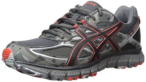 ASICS Men's Gel-Scram 3 Running Shoe, Dark Grey/Black/Red Clay, 9 Medium US