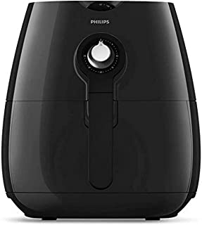 Philips Daily Collection Low Fat Air Fryer for Fry/Bake/Grill/Roast with Rapid Air Technology, 0.8kg Capacity, Black, HD92...