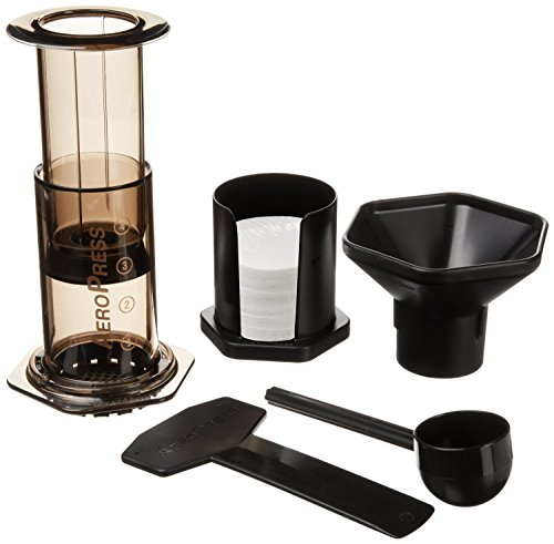 AeroPress Coffee and Espresso Maker - Quickly Makes Delicious Coffee Without Bitterness...